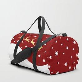 Red Christmas Santa Claus Duffle Bag