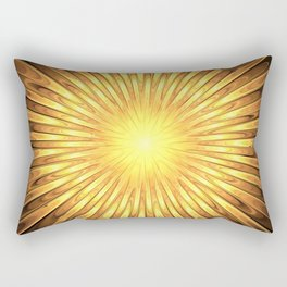 Rays of GOLD SUN abstracts Rectangular Pillow