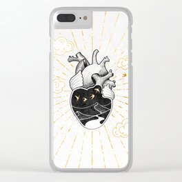 Desert Heart Inktober :: More Magick Clear iPhone Case