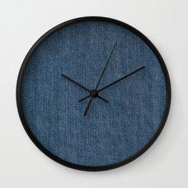 Blue Denim Texture Wall Clock