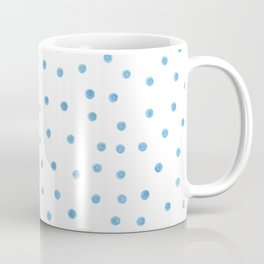 Pastel Blue Polka Dots Coffee Mug