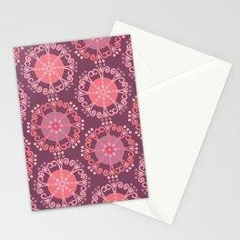 Retro Plum Stationery Cards