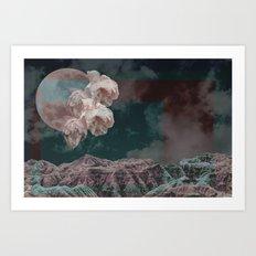 supermoon in taurus Art Print