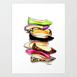 Fashion Flats Art Print