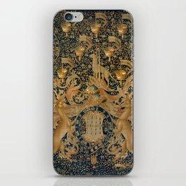 Vintage Golden Deer and Royal Crest Design (1501) iPhone Skin