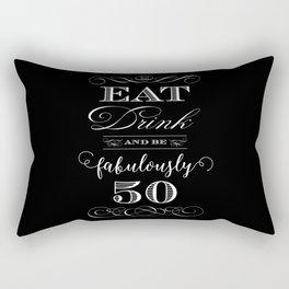 Fabulously Fifty Birthday Rectangular Pillow