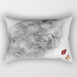 Autumn Cat Rectangular Pillow