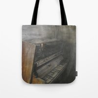 piano Tote Bags featuring Piano by Claudia Ma
