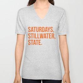 Saturday, Stillwater, State Unisex V-Neck