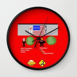 President KKK looks at Mexico Wall Wall Clock
