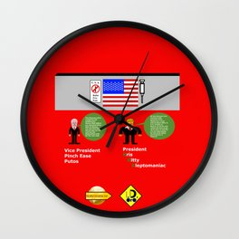 President KKK looks at Mexico Wall Wall Clock