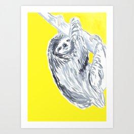 birthday sloth Art Print