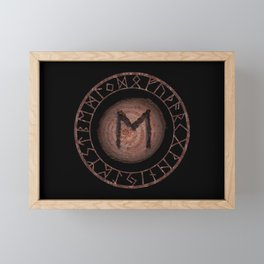 Eihwaz Elder Futhark Rune Strength, reliability, dependability, trustworthiness. Enlightenment Framed Mini Art Print