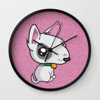 puppy Wall Clocks featuring Puppy by Eye Opening Design