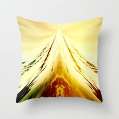 Volcanic Ice Mountain Throw Pillow