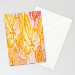Soft Painterly Pastel Autumn Leaves Stationery Cards