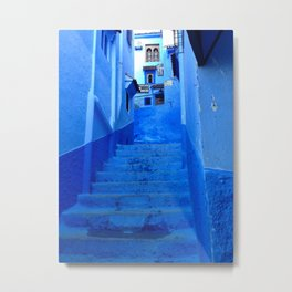 That Chefchaouen Blue Metal Print