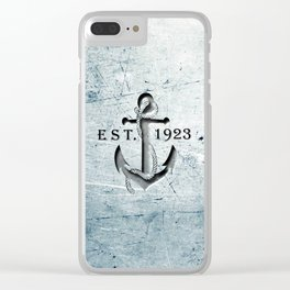 Anchor 1923 Clear iPhone Case