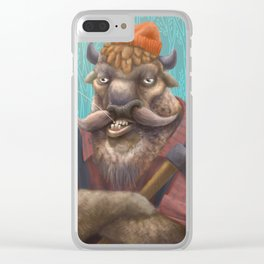 Bison Lumberjack Clear iPhone Case