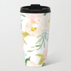 Floral 02 Metal Travel Mug