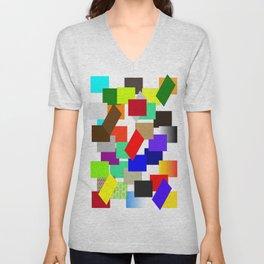 einfach farbig   (A7 B0054) Unisex V-Neck