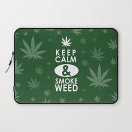 """Keep Calm and Smoke Weed"" Laptop Sleeve"