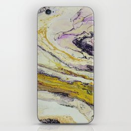 Planet of reptiles, abstract, acrylic on canvas iPhone Skin