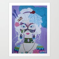 marie antoinette Art Prints featuring Marie Antoinette by Keith Loves Geisha