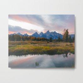 Grand Teton Sunset Metal Print