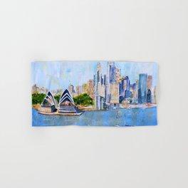 Colorful Sydney Harbor Hand & Bath Towel