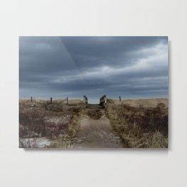 Melmerby Beach Boardwalk Metal Print
