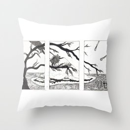 Waves by Carlin Throw Pillow