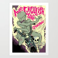cunt Art Prints featuring Mad Ghoulish Cunt by Vinesauce