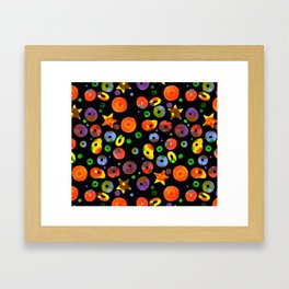 colored BOOM! Colored pattern Framed Art Print