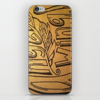 angel wings iPhone & iPod Skins featuring Angel Wings by Eve Beth