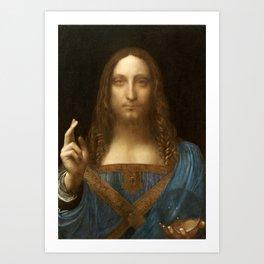 Salvator Mundi by Leonardo da Vinci Art Print