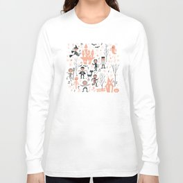 Love shack monsters halloween party Long Sleeve T-shirt