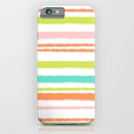 Colorful Horizontal Lines iPhone Case