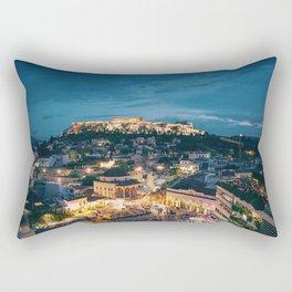 Athens Greece at Dusk Rectangular Pillow