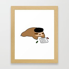 Beatnik Sloth Framed Art Print