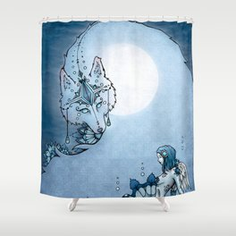 Juliana & The Wolf Spirit Shower Curtain