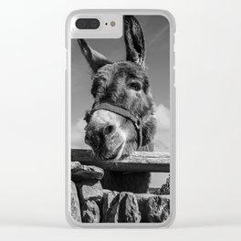Irish Donkey - Get My Good Side Clear iPhone Case