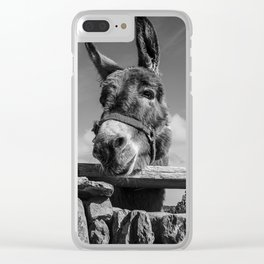 Irish Donkey - Get My Good Side Clear iPhone Case