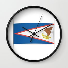Flag of American Samoa. The slit in the paper with shadows.  Wall Clock