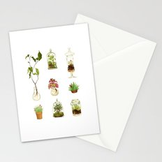 PLANTS IN GLASS AND POTS Stationery Cards