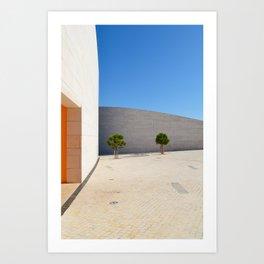 Lisbon orange blue Art Print