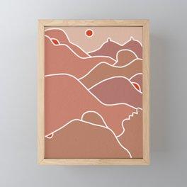 Feel the heat Framed Mini Art Print