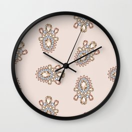 Jewelbox: Morganite Brooch in Light Blush Wall Clock