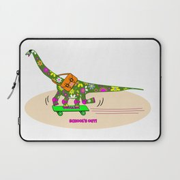 Schools Out for Brenda the Dinosaur Laptop Sleeve