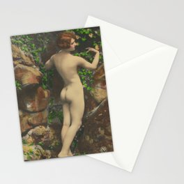 Victorian Vintage Posing Lady Erotic French Nude Postcard Stationery Cards